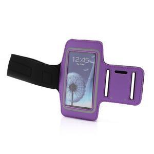 Športové puzdro na ruku až do veľkosti mobilu 140 x 70 mm - fialové - 6