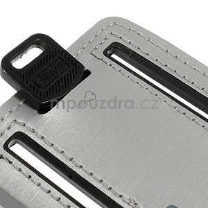 Soft puzdro na mobil vhodné pre telefóny do 160 x 85 mm -  šedé - 6