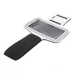 Fitsport puzdro na ruku pre mobil do veľkosti až 145 x 73 mm - biele - 6