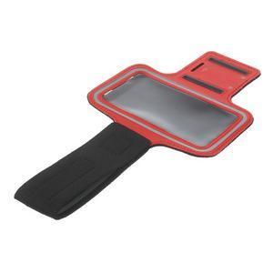 Fitsport puzdro na ruku pre mobil do veľkosti až 145 x 73 mm -  červené - 6
