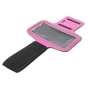 Fitsport puzdro na ruku pre mobil do veľkosti až 145 x 73 mm - rose - 6