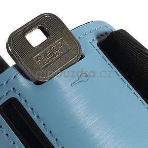 Soft puzdro na mobil vhodné pre telefóny do 160 x 85 mm - svetlomodré - 6