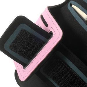 Fitsport puzdro na ruku pre mobil do veľkosti až 145 x 73 mm - ružové - 6