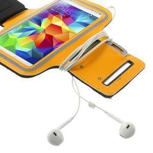 Fitsport puzdro na ruku pre mobil do veľkosti až 145 x 73 mm - oranžové - 6