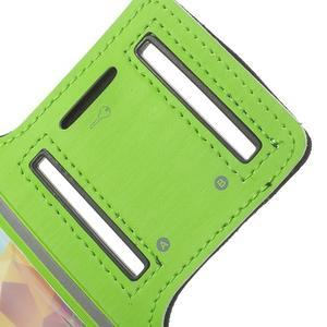 Fitsport puzdro na ruku pre mobil do veľkosti až 145 x 73 mm - zelené - 6