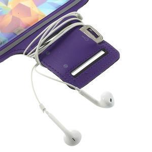 Fitsport puzdro na ruku pre mobil do veľkosti až 145 x 73 mm - fialové - 6