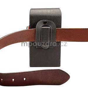 Cloths PU kožené univerzální puzdro do velikosti 155 x 80 x 35 mm - čierné - 6