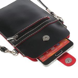 Univerzálne puzdro/kapsička pre mobil do rozmerov 180 x 110 mm - čierne - 6