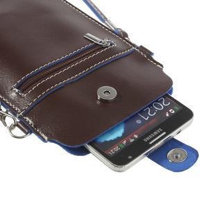 Univerzálne puzdro/kapsička pre mobil do rozmerov 180 x 110 mm - tmavohnedé - 6