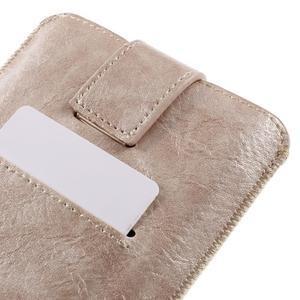 Univerzálne flipové puzdro pre mobily do 150 x 85 mm - zlatoružové - 6