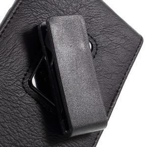 Puzdro pre opasek pre telefony do rozmerov 160 x 84 x 18 mm - čierne - 6