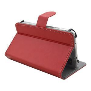 Univerzální peněženkové pouzdro do 159 x 79 mm - červené - 6
