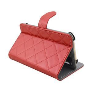 Luxury univerzálne puzdro pre mobil do 148 x 76 x 21 mm - červené - 6