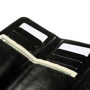 Univerzálne PU kožené puzdro pre mobil do 160 x 80 mm - čierne - 6
