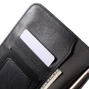 Peňaženkové univerzálne puzdro pre mobil do 140 x 68 x 10 mm - čierne - 6