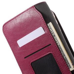 Peňaženkové univerzálne puzdro pre mobil do 140 x 68 x 10 mm - rose - 6