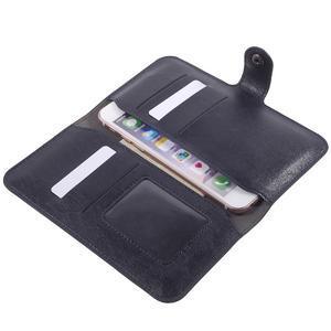 Peňaženkové univerzálne puzdro pre mobil do 140 x 68 x 10 mm - tmavomodré - 6