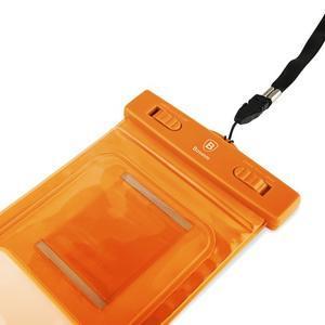 Base IPX8 vodotesný obal pre mobil do 158 x 78 mm - oranžový - 6