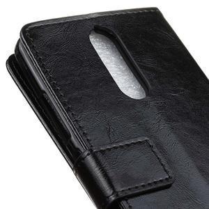Horse PU kožené puzdro pre mobil Lenovo K5 Note - čierné - 7