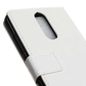 Horse PU kožené puzdro pre mobil Lenovo K5 Note - bielé - 7