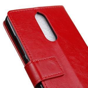 Horse PU kožené puzdro pre mobil Lenovo K5 Note - červené - 7