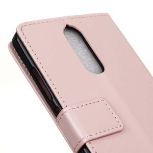 Horse PU kožené puzdro pre mobil Lenovo K5 Note - ružové - 7