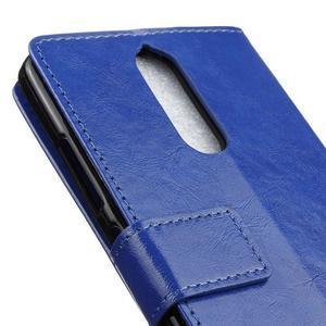Horse PU kožené puzdro pre mobil Lenovo K5 Note - modré - 7