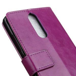 Horse PU kožené puzdro pre mobil Lenovo K5 Note - fialové - 7