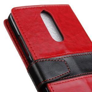 Colory knížkové puzdro pre Lenovo K5 Note - červené - 7