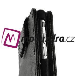 Kožené flipové puzdro pre iPhone 6, 4.7 - čierné - 7