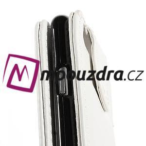 Kožené flipové puzdro pre iPhone 6, 4.7 - biele - 7