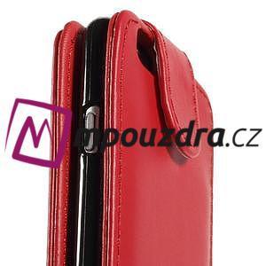 Kožené flipové puzdro pre iPhone 6, 4.7 - červené - 7