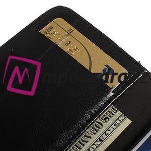 Peňaženkové kožené puzdro na iPhone 6, 4.7 - čierné - 7