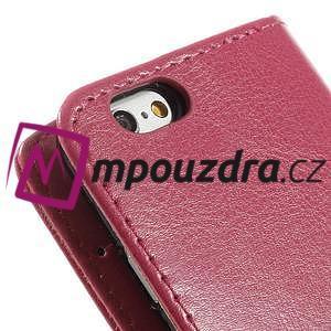 Peňaženkové kožené puzdro na iPhone 6, 4.7 - růžové - 7