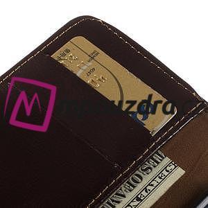Peňaženkové kožené puzdro na iPhone 6, 4.7 - hnedé - 7