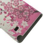 Peňaženkové puzdro pre Samsung Galaxy Note 4- kvitnúca vetvička - 7/7