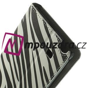 Peňaženkové puzdro na Samsung Galaxy Note 4- zebrované - 7