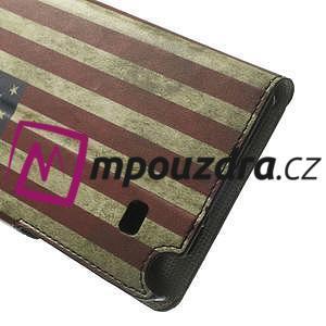 Peňaženkové puzdro pre Samsung Galaxy Note 4- USA vlajka - 7