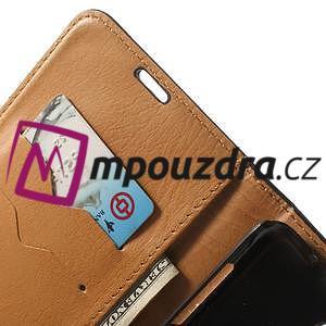 Peňaženkové kožené puzdro na Samsung Galaxy Note 4- čierné - 7