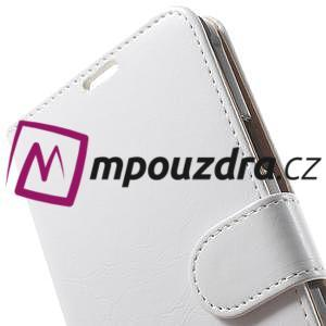 Peňaženkové  kožené puzdro na Samsung Galaxy Note 4- biele - 7