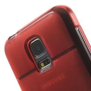 Gélové puzdro pre Samsung Galaxy S5 mini G-800- vesta červená - 7