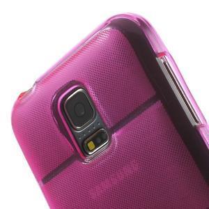 Gélové puzdro pre Samsung Galaxy S5 mini G-800- vesta ružová - 7