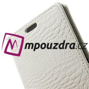Peňaženkové PU kožené puzdro pre Sony Xperia Z3 D6603 - biele - 7