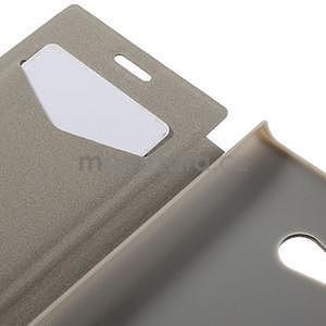 Flipové puzdro na Nokia Lumia 730 - červené - 7