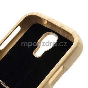 Drevené puzdro rozepínací pre Samsung Galaxy S4 - loď - 7