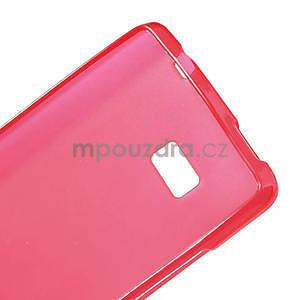 Gélové matné puzdro pre HTC Desire 600- červené - 7