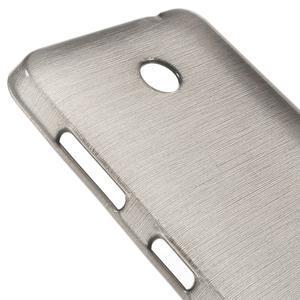 Gélové Kartáčové puzdro na Nokia Lumia 630- šedé - 7