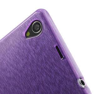 Kartáčované puzdro pre Sony Xperia Z1 C6903 L39- fialové - 7