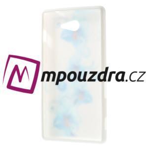 Gélové puzdro na Sony Xperia M2 D2302 - modrá lilie - 7