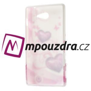 Gélové puzdro na Sony Xperia M2 D2302 - dvě srdce - 7